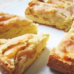 Бісквітний яблучний пиріг - прості покрокові рецепти