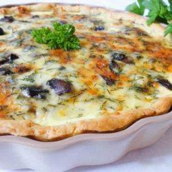 Кіш з куркою і грибами, пять простих покрокових рецептів