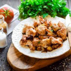 Індичка з грибами в духовці пять простих покрокових рецептів з фото