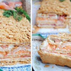 Рибний торт «наполеон» пять простих покрокових рецептів