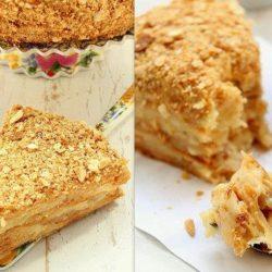 Як смачно і швидко приготувати торт «наполеон» з листкового тіста з заварним кремом - пять оригінальних покрокових рецептів