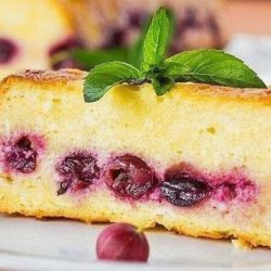 Манник з ягодами пять простих покрокових рецептів