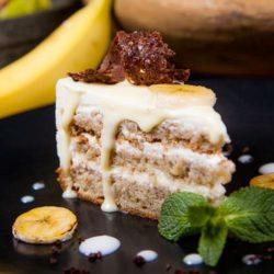 Бісквітний торт з бананами пять простих покрокових рецептів