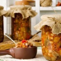 Квасоля з овочами на зиму пять простих покрокових рецептів