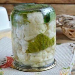 Цвітна капуста на зиму без стерилізації 5 простих покрокових рецептів