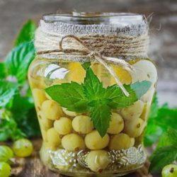 Компот «мохіто» з агрусу на зиму пять простих покрокових рецептів