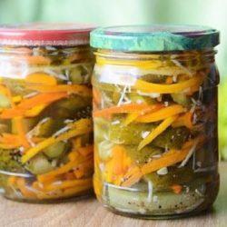 Салат «огірки по-корейськи» на зиму пять простих покрокових рецептів