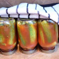 Огірки в кетчупі на зиму пять простих покрокових рецептів