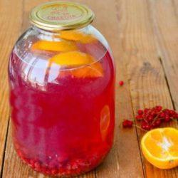 Як приготувати смачний компот із червоної смородини з апельсином на зиму: пять простих покрокових рецептів