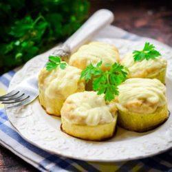 Кабачки з курячим фаршем в духовці пять простих покрокових рецептів з фото