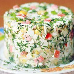 Дієтичний крабовий салат пять простих покрокових рецептів