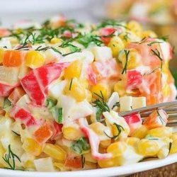 Салат з крабовими паличками і морквою пять простих покрокових рецептів