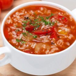 Томатний суп з рисом: пять простих покрокових рецептів