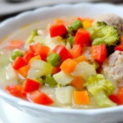 Овочевий суп з фрикадельками пять простих покрокових рецептів