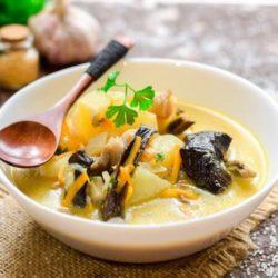 Грибний суп з сушених грибів пять простих покрокових рецептів з фото