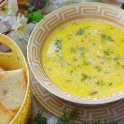 Сирний суп з копченою куркою шість простих покрокових рецептів