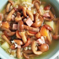 Суп з маринованих грибів чотири покрокових рецептів