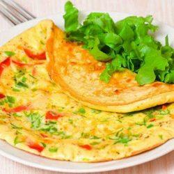 Омлет з овочами пять простих покрокових рецептів