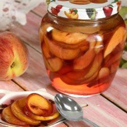 Персики у власному соку на зиму пять простих покрокових рецептів