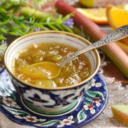 Варення з ревеню з апельсином пять простих покрокових рецептів