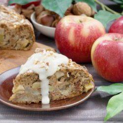 Яблучний пиріг з горіхами пять простих покрокових рецептів